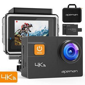 Cámara deportiva 4k 20mp wifi ultra hd cámara de acción subacuática impermeable 40m videocámara con 170° gran angular eis sony sensor