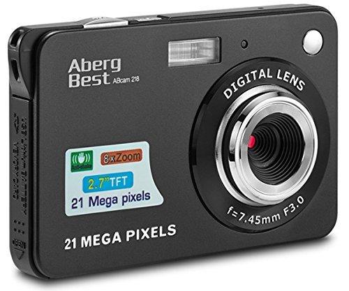 Compactas cámaras digitales abergbest 2.7 lcd recargable hd cámara digital para estudiantes