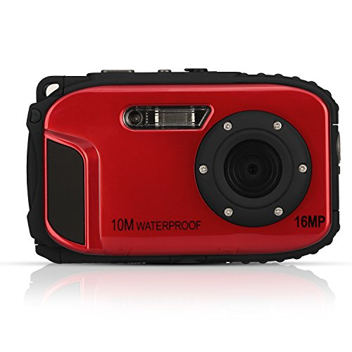 Cámara subacuática stoga cgt002 cámara impermeable de la lente de la cámara de la cámara del lcd 16mp de la pulgada de 2.7 pulgadas video del zumbido de la cámara