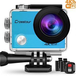 4k cámara deportiva wifi 16mp cámara de acción con mando a distancia videocámara impermeable 30m ángulo de visión 170°2 baterías 1050mah 20 aceesorios para actividades deportivas