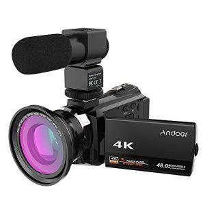 4k 1080p 48mp wifi cámara de video digital grabadora de videocámara con lente macro 0.39x micrófono externo novatek 96660 táctil capacitiva ir visión nocturna infrarroja 16x zoom digital