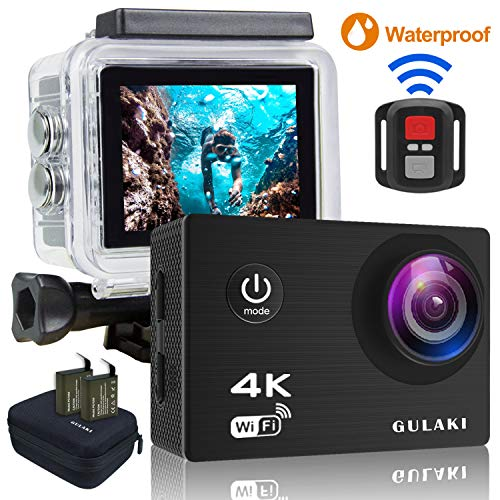 0145d29fea902 Cámara deportiva 4k wifi ultra hd 16mp camara acuatica cámara acción de  casco resistente al agua ...